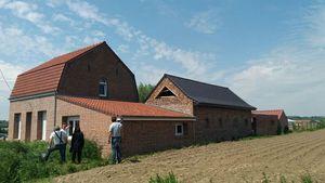 Projet de surélévation d'extension dans une maison de campagne à Bailleul